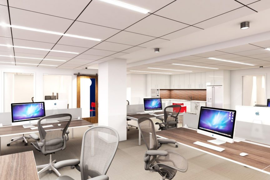 Fourth Floor Work Stations (Rendering)